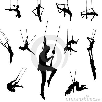 Vector trapeze dancers