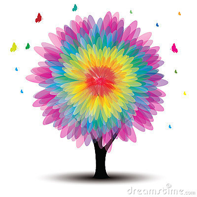 Free Vector Tree With Flower Stock Image - 23728191
