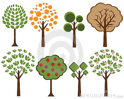 Vector trees set 2
