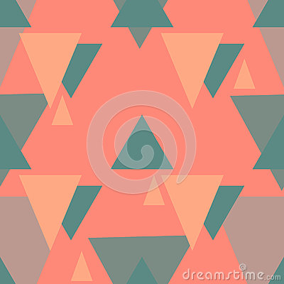 Vector triangle seamless pattern Vector Illustration
