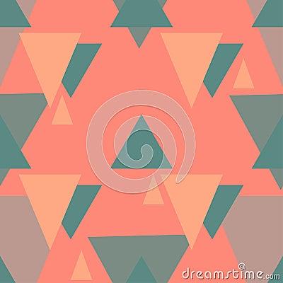 Vector triangle seamless pattern Vector Illustration