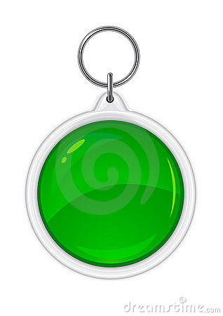 Vector trinket souvenir with green circle