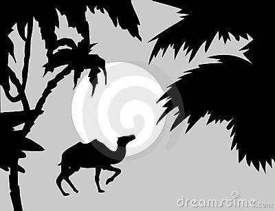 Vector  tropical landscape