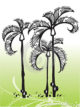 Free Vector Tropical Trees Royalty Free Stock Photos - 6184258