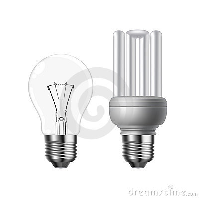 Vector tungsten and energy saving lightbulb