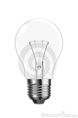 Vector tungsten lightbulb