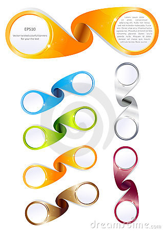 Vector twisted colorful banners