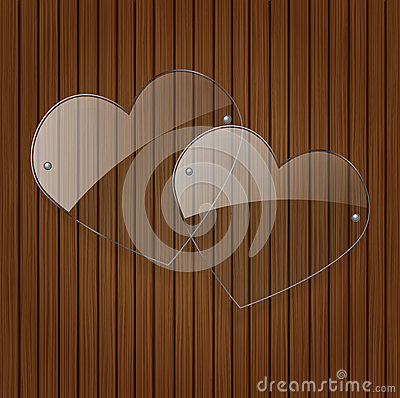 Free Vector Two Glass Hearts. Stock Images - 28740764
