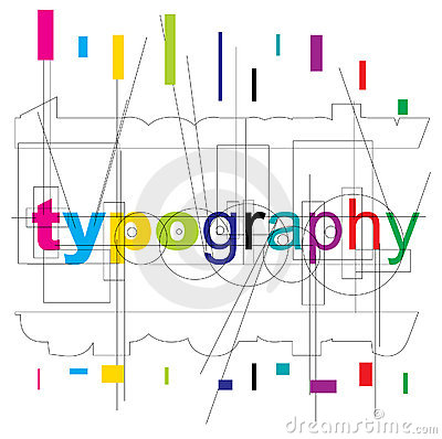 Vector typography type