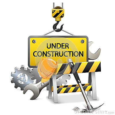 Free Vector Under Construction Concept With Frame Royalty Free Stock Photo - 35478235