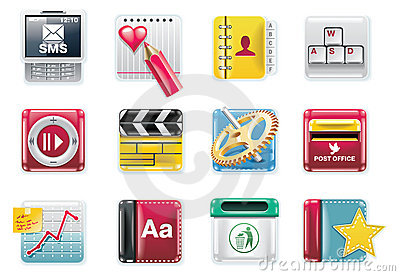 Vector universal square icons. Part 4 (white)