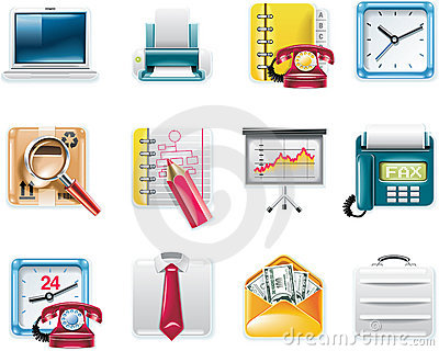 Vector universal square icons. Part 7. Business