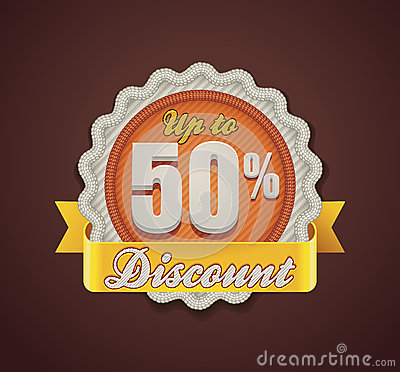 Vector up to 50  discount badge