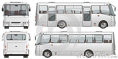 Vector urban passenger mini-bus