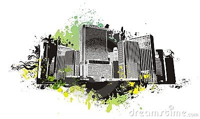 Vector urban scene