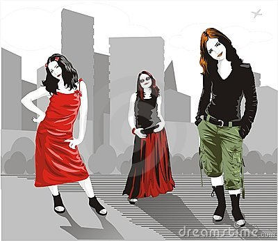 Vector urban women