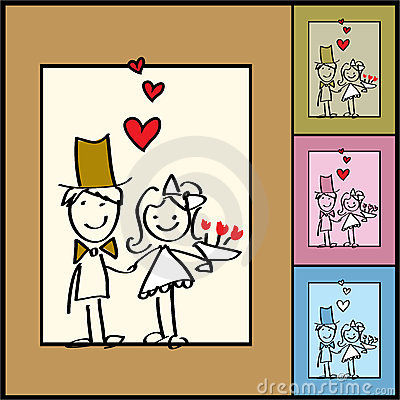 Vector valentine background, weddings