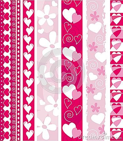 Free Vector Valentine Border Stock Images - 6742594