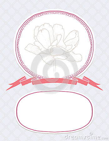 Vector valentine card, wedding invitation template