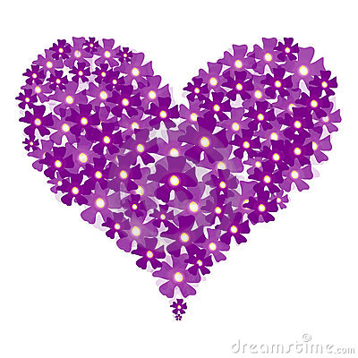 Vector valentine floral heart
