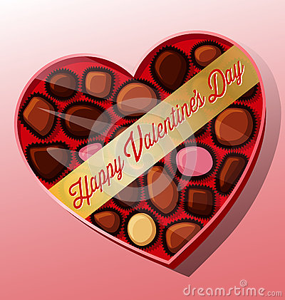 Free Vector Valentine S Day Candy Heart Shaped Box Stock Photos - 48389093