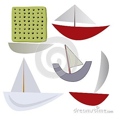 Vector various boats