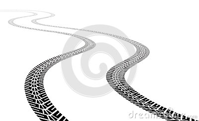 Vector vehicle tire tracks Vector Illustration