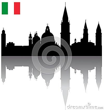 Vector Venice silhouette skyline