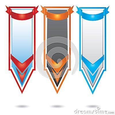 Vector vertical promotional color banner set