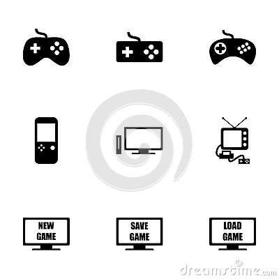 Free Vector Video Game Icon Set Stock Images - 52798264