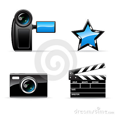 Vector video and photo icon Set
