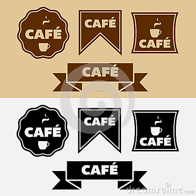Vector Vintage Cafe Badges