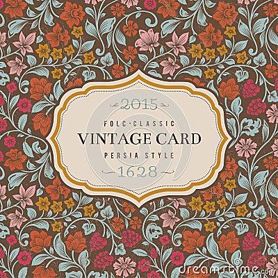 Vector vintage card.