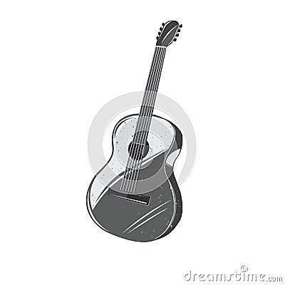 Vector Vintage Cartoon Guitar Stock Vector Image 57701942