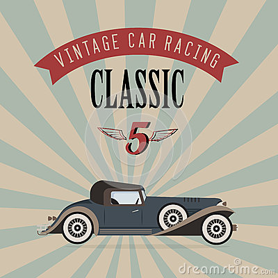 Vector vintage classic car