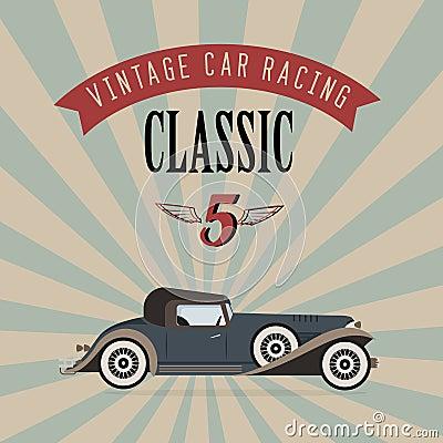 Vector vintage classic car