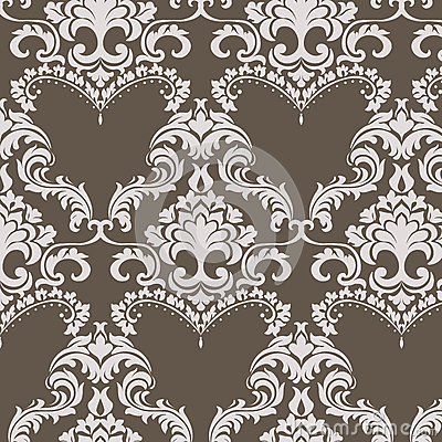 Free Vector Vintage Damask Pattern Ornament In Classic Style Royalty Free Stock Image - 72960436