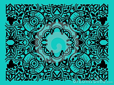 Vector vintage flower motif arabic retro pattern