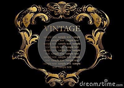 Vector vintage frame cover