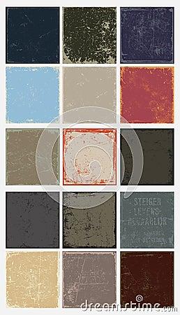Vector vintage grunge panels