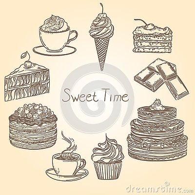 Sweet time 1 Vector Illustration