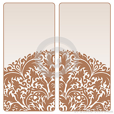Vector vintage invitation card set.