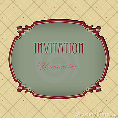Vector vintage  invitation grunge card