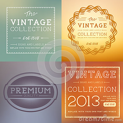 Free Vector Vintage Labels Royalty Free Stock Images - 31706929