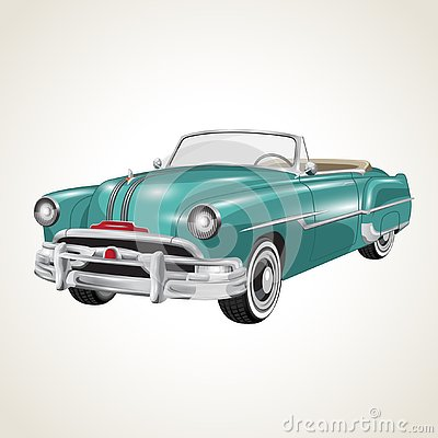 Vector vintage retro cabriolet car Vector Illustration
