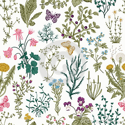 Free Vector Vintage Seamless Floral Pattern. Stock Photo - 67982930