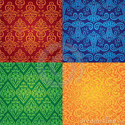 Vector vintage seamless patterns