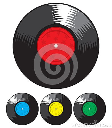 Vector vinyl record set