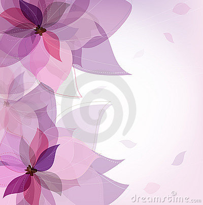 Free Vector Violet Flower Card Royalty Free Stock Photography - 17587807