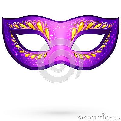 Vector violet venitian carnival mask